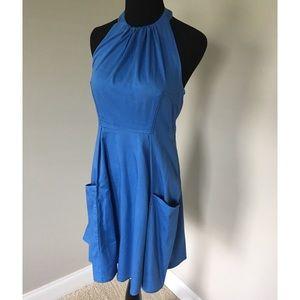Jessica Simpson Blue Halter Dress Size 4